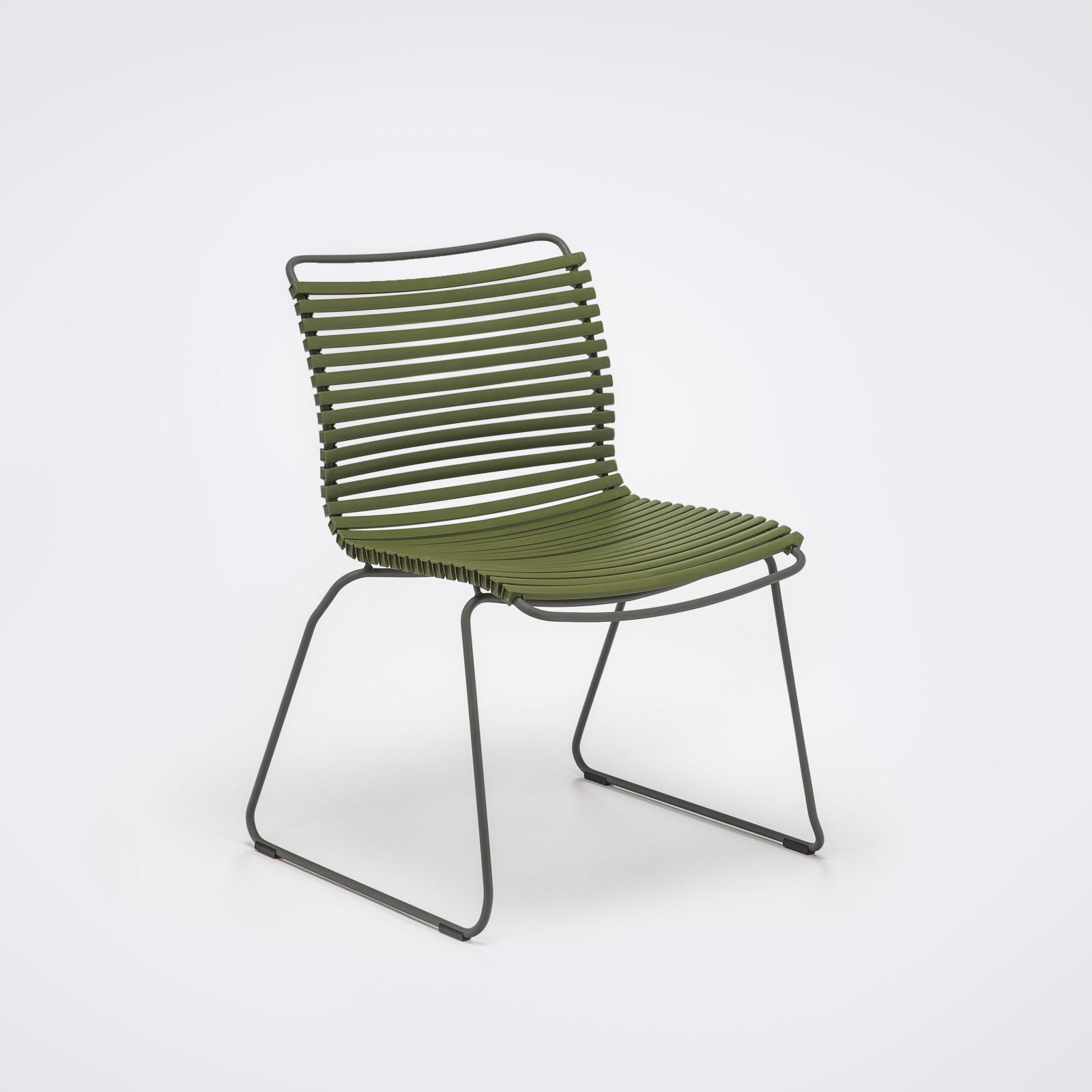 Click Dining Chair Without Armrests Olive Green