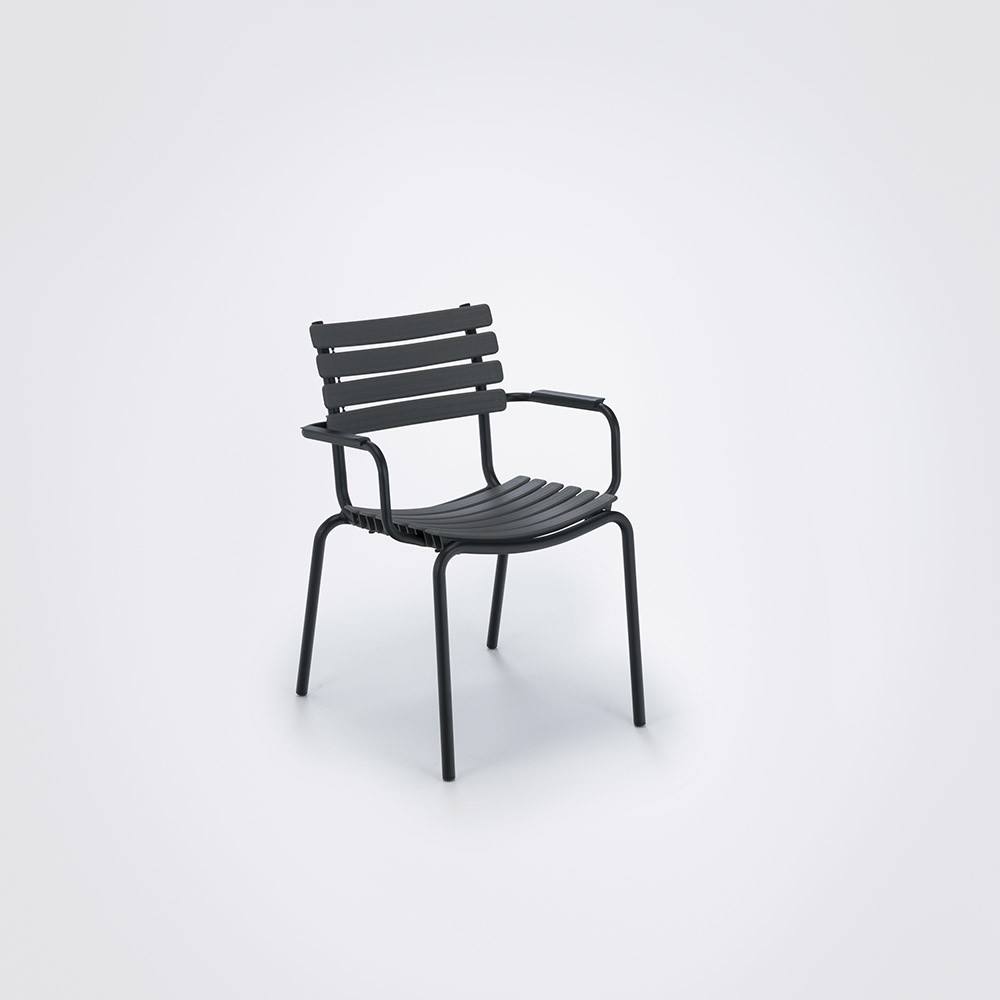 Clips Dining Chair With Armrests Clay, Aluminium