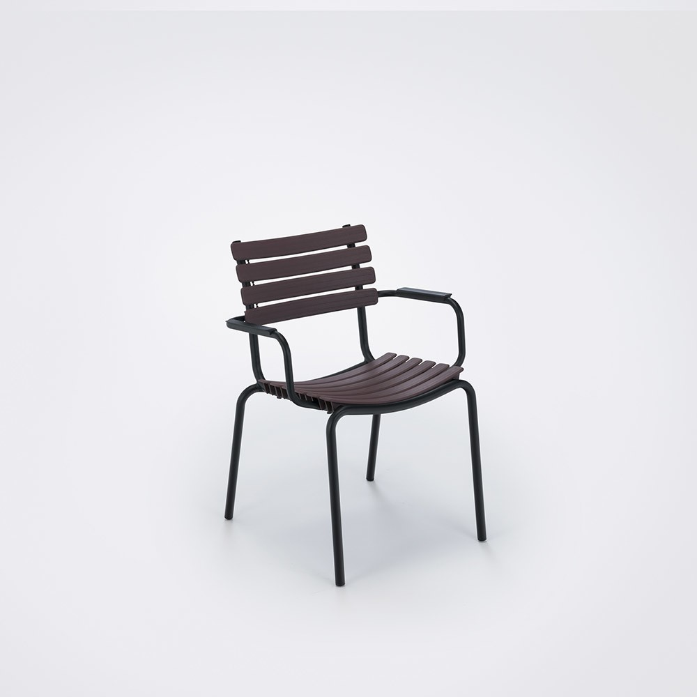 Clips Dining Chair With Armrests Plum, Aluminium