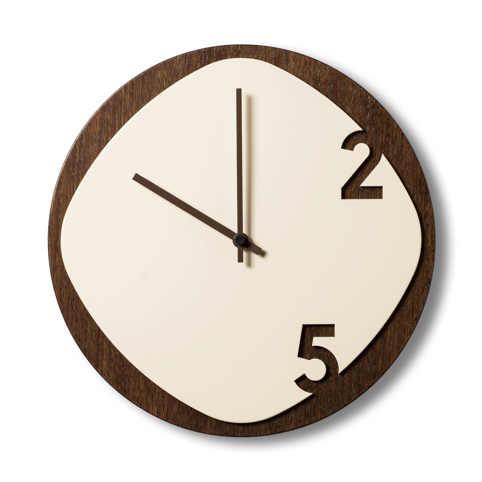 Clock25 brown / beige