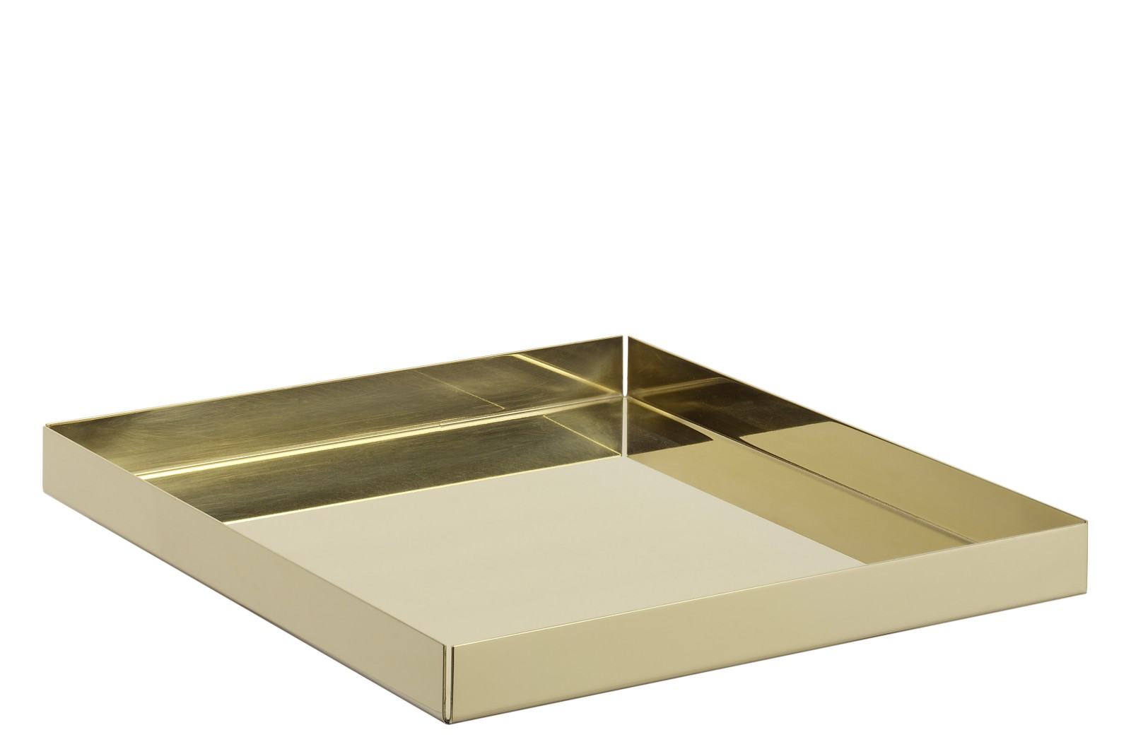 CM04 Ito Square Tray Polished Brass