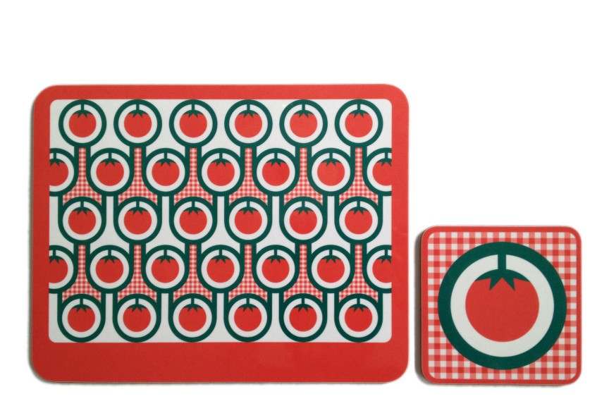 Coaster & Placemat Set Tomatoes