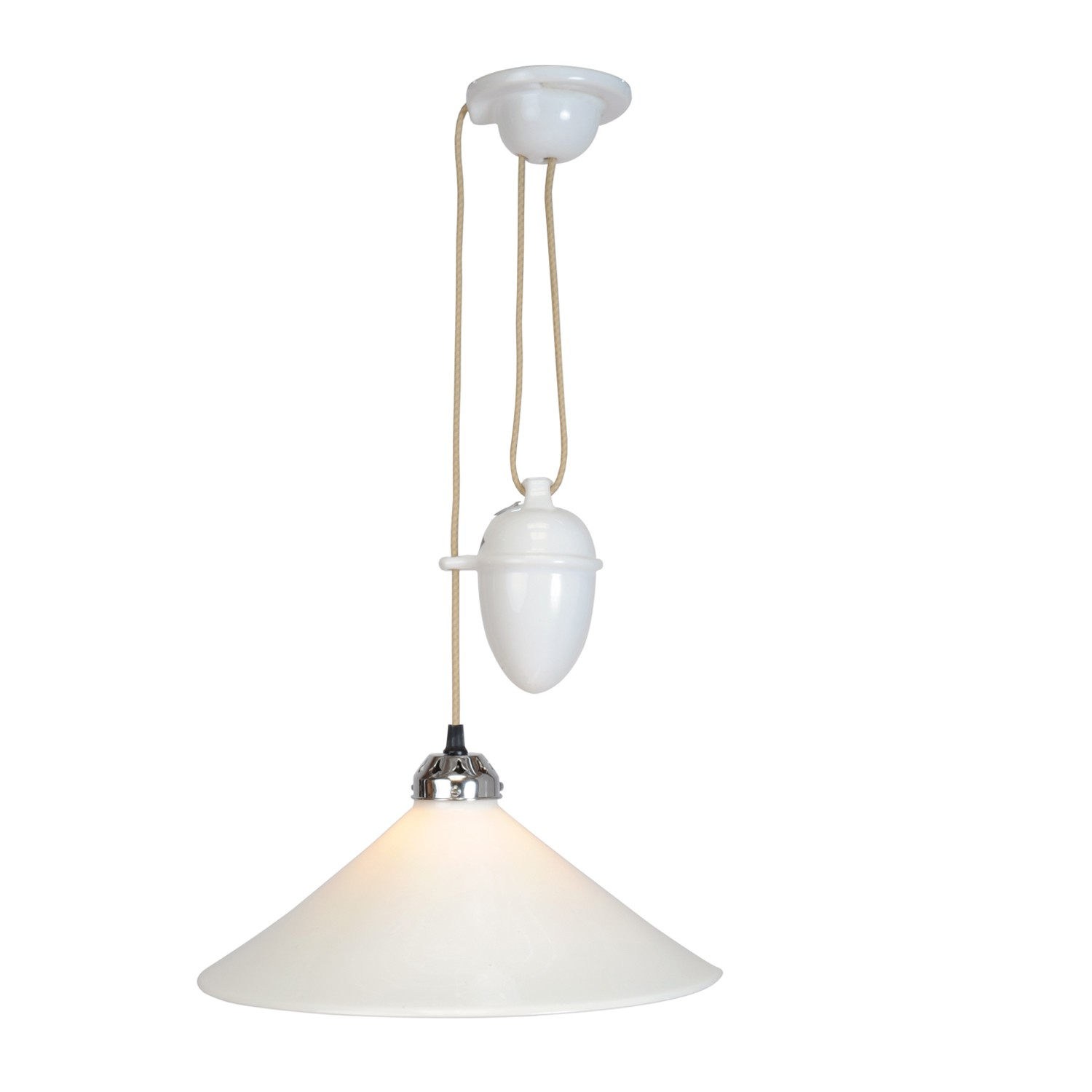 Cobb Large Plain Pendant Light Large, Rise & Fall