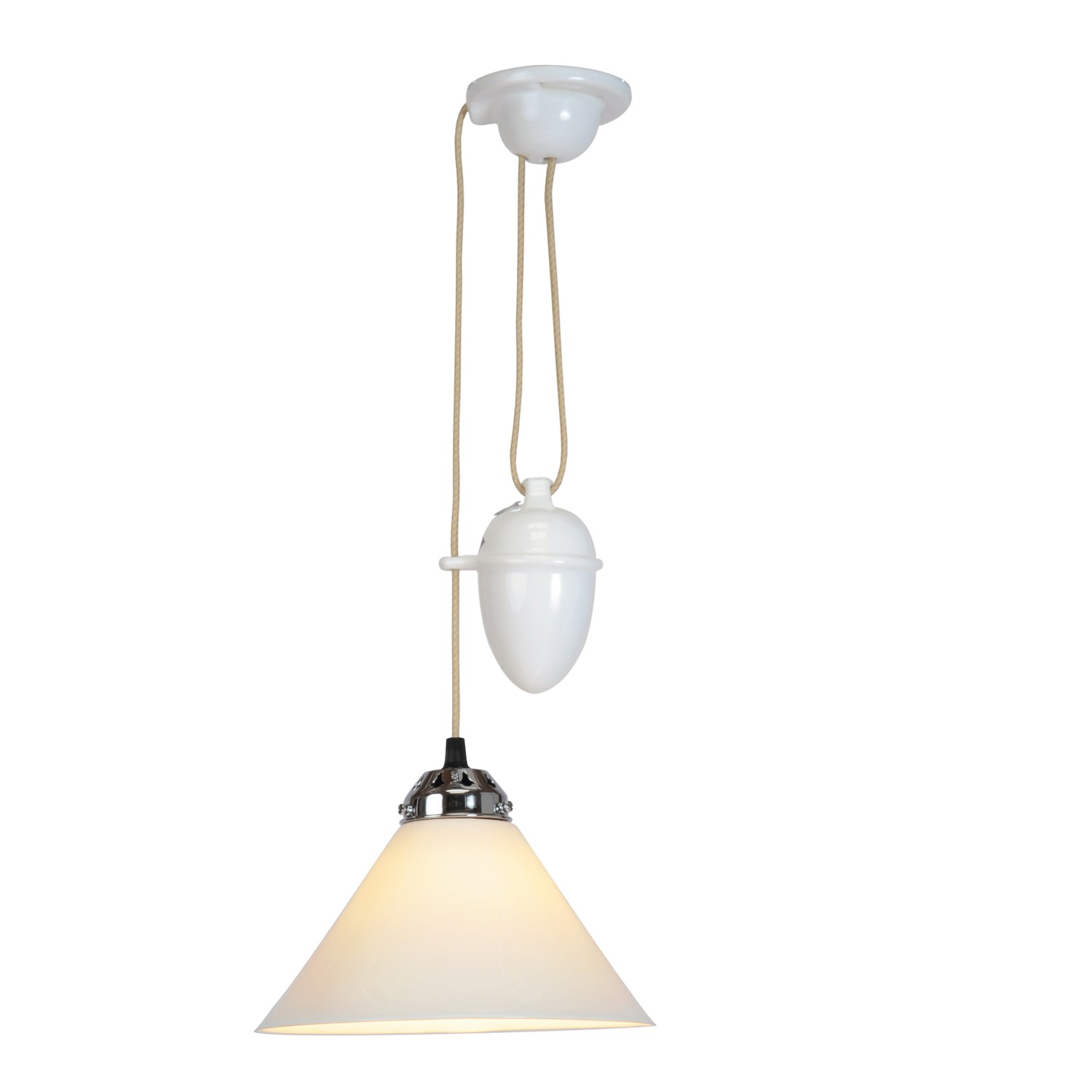 Cobb Large Plain Pendant Light Small, Rise & Fall