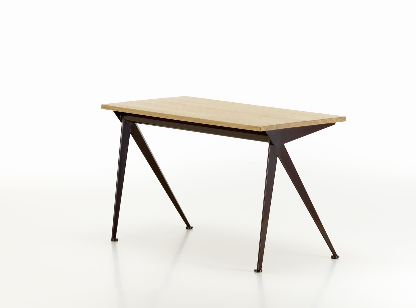 Compas Direction 40 chocolate powder-coated, solid oak, natural, oiled