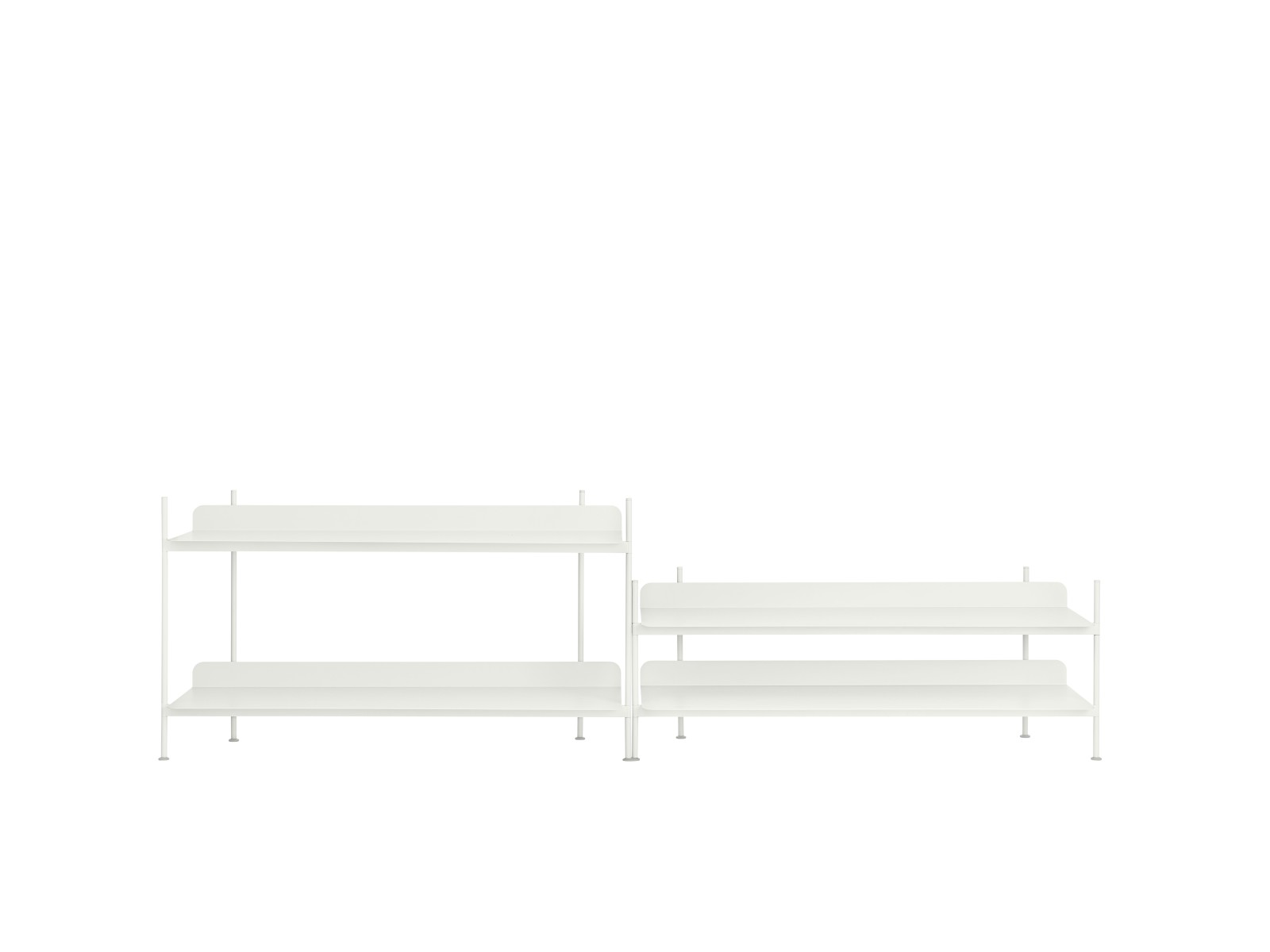 Compile Shelving System Configuration 5, White