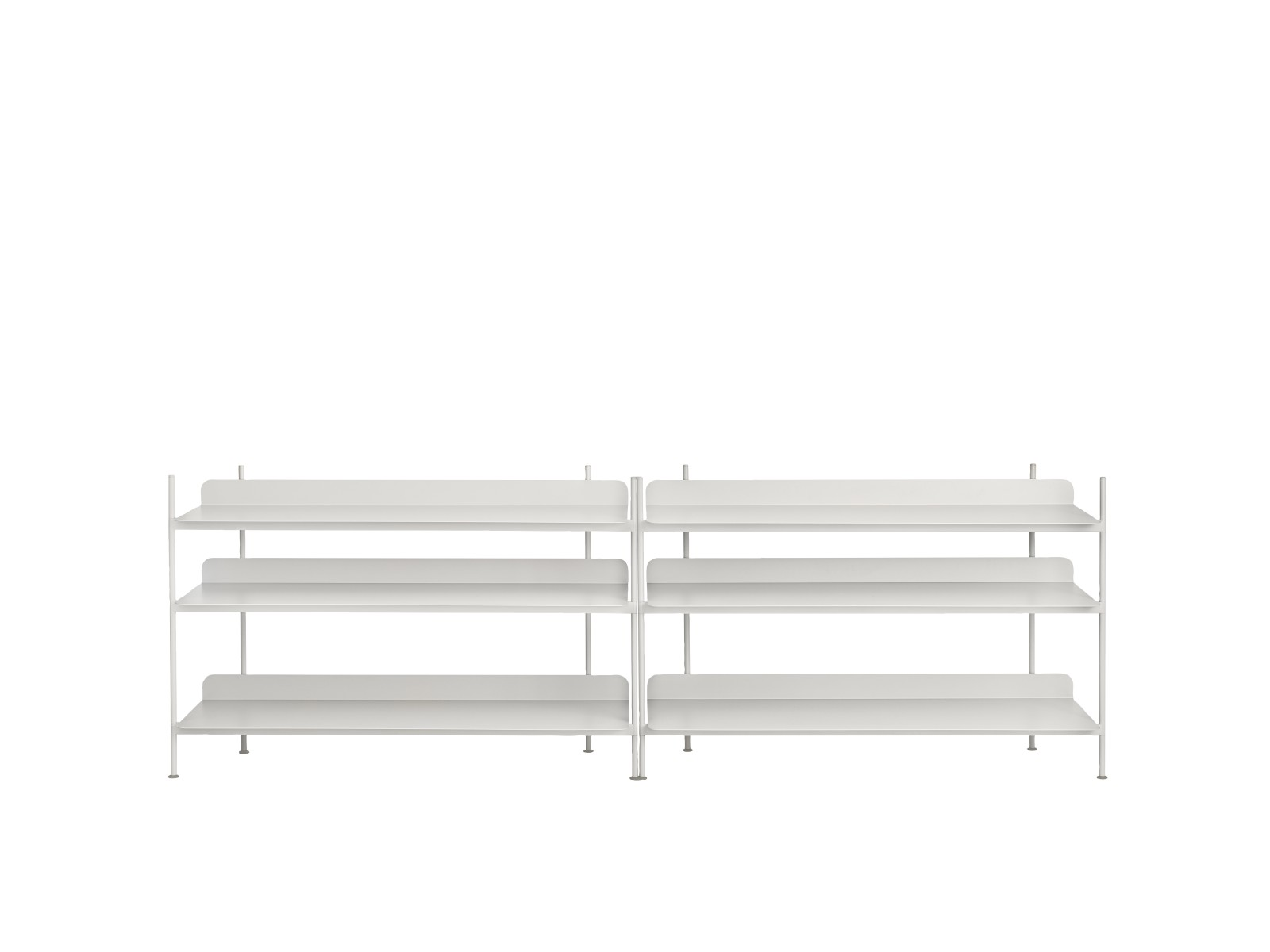 Compile Shelving System Configuration 6, Grey