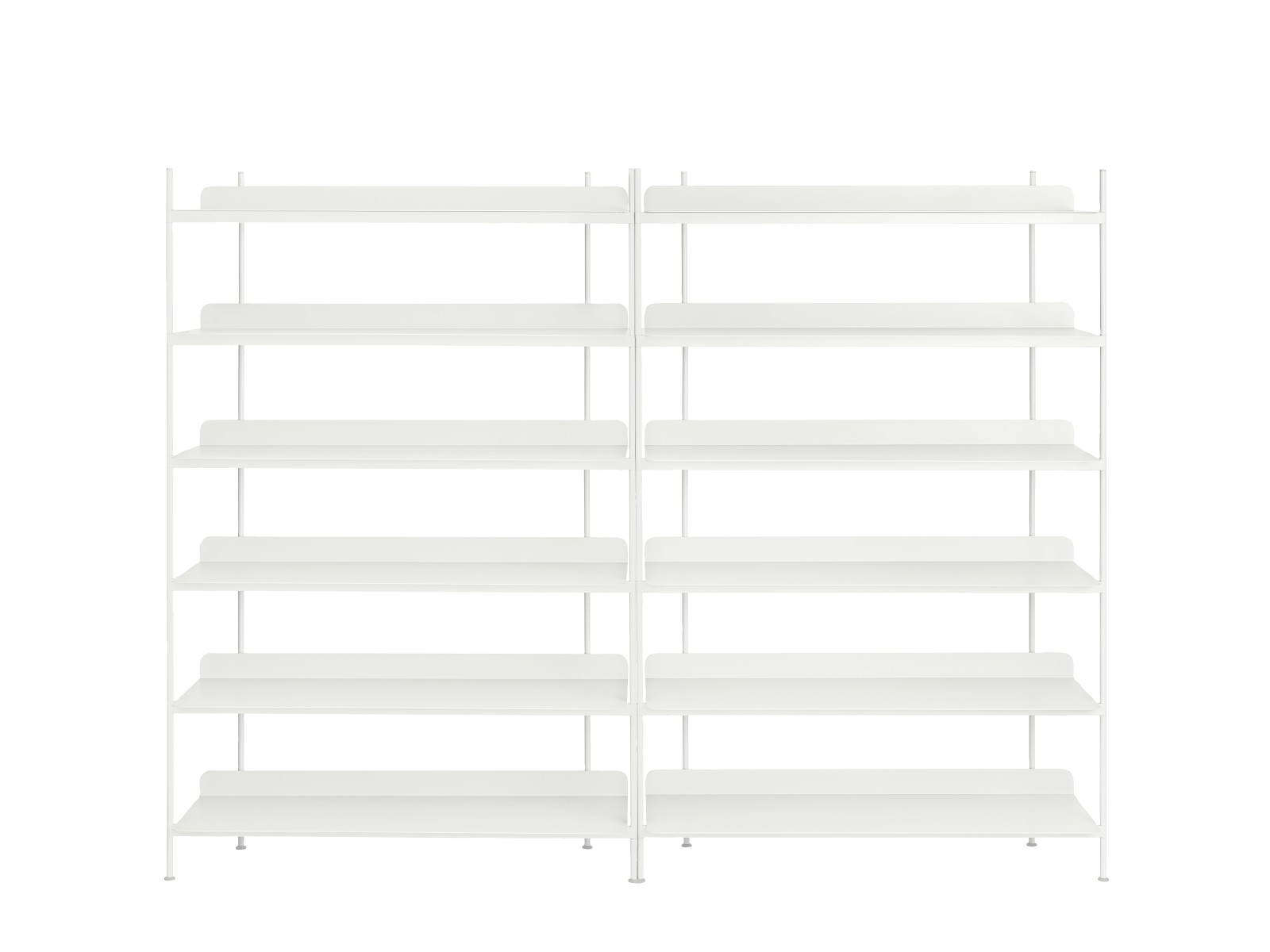 Compile Shelving System Configuration 8, White