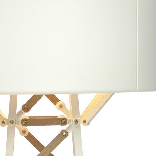 Construction Floor Lamp Small, White and Wood