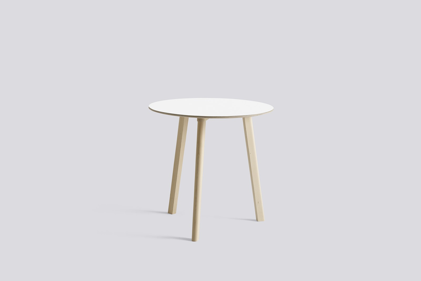 Copenhague Deux (CPH 220) Round Dining Table Beige Grey laminate Top, Beige Grey Beech Base, 98 cm