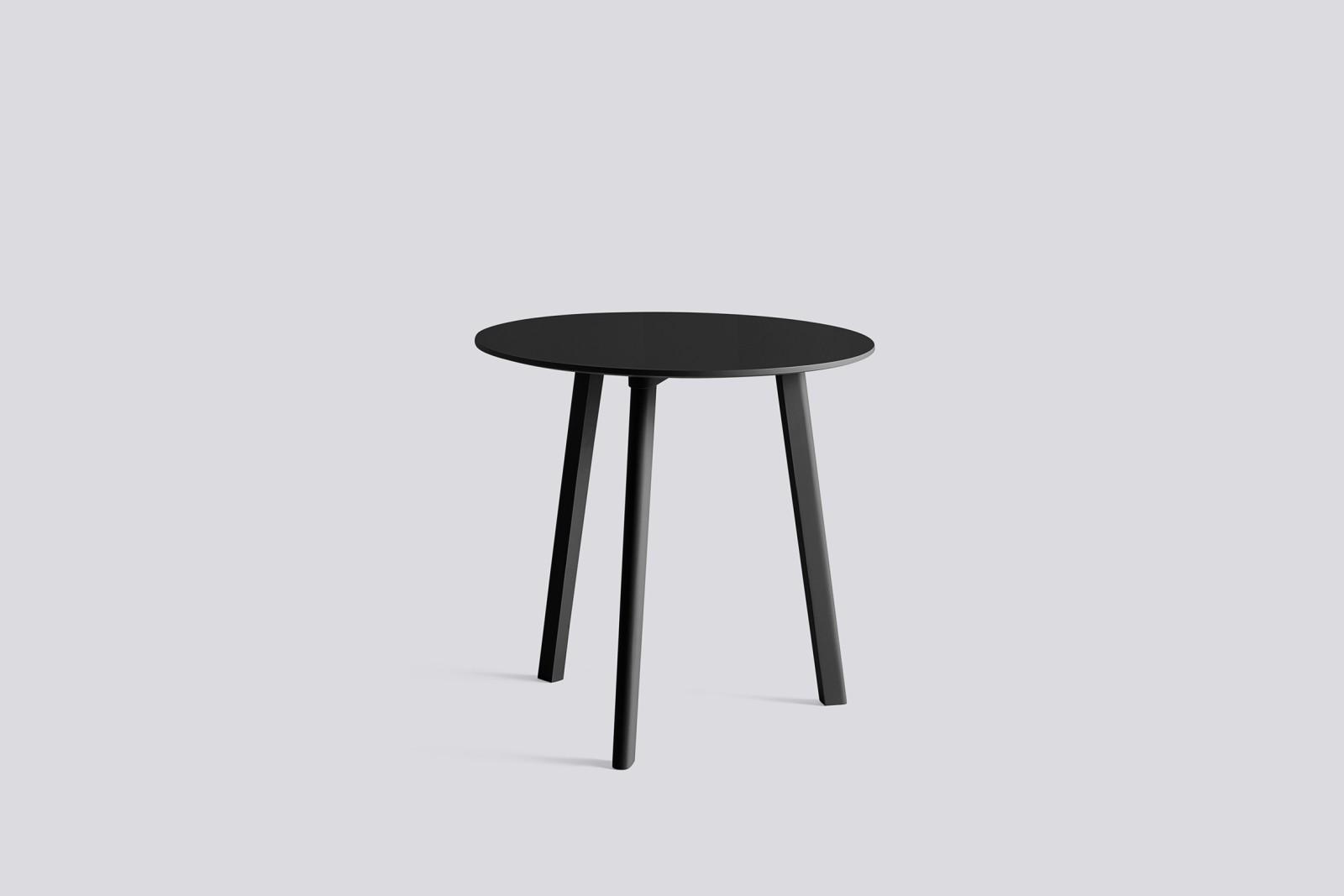 Copenhague Deux (CPH 220) Round Dining Table Stone Grey Lamniate Top, Stone Grey Beech Top, 75 cm