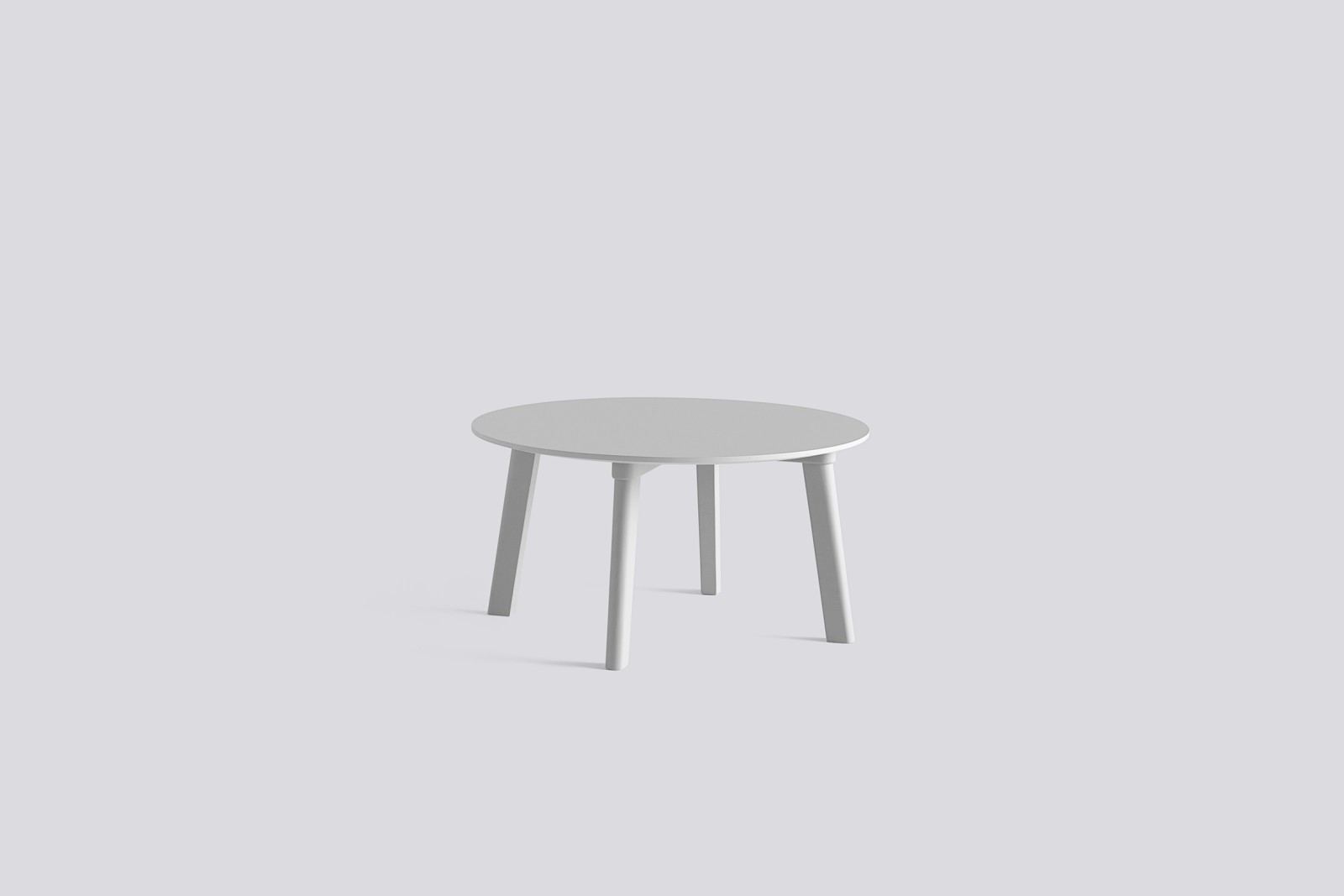 Copenhague Deux (CPH 250) Round Coffee Table Dusty Grey Laminate Top, Dusty Grey Beech Base