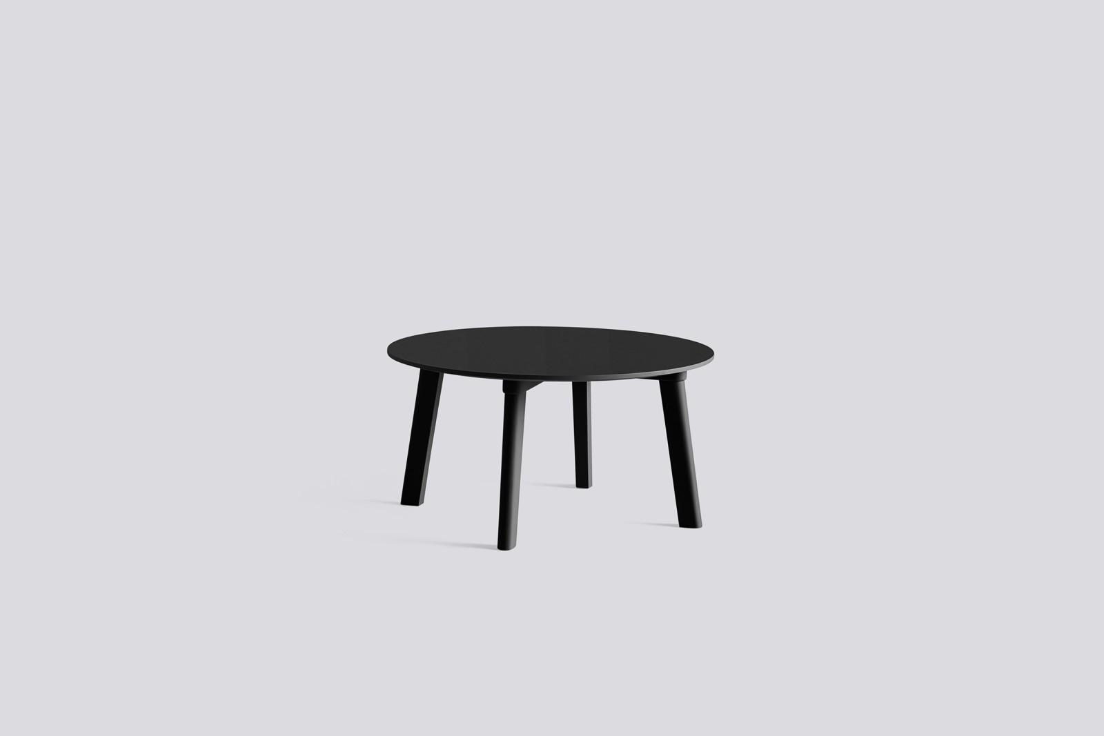 Copenhague Deux (CPH 250) Round Coffee Table Ink Black Laminate Top, Ink Black Beech Base