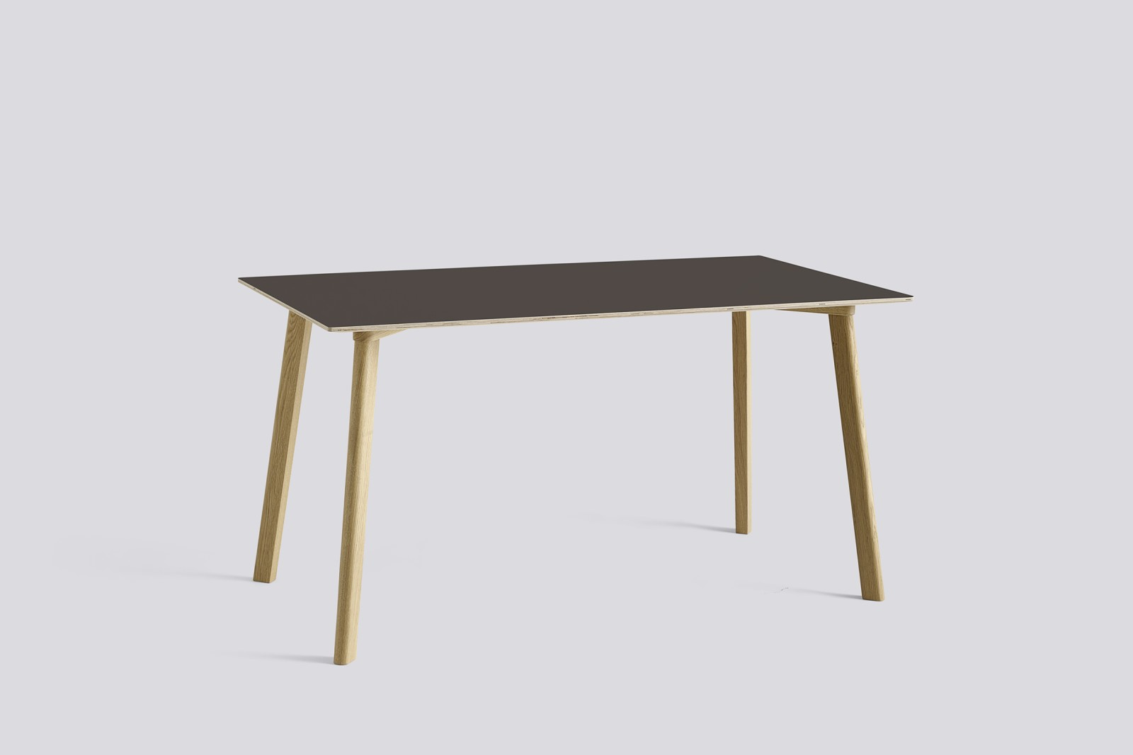Copenhague Deux (CPH210) Rectangular Dining Table Beige Grey Laminate Top, Untreated Solid Beech Bas