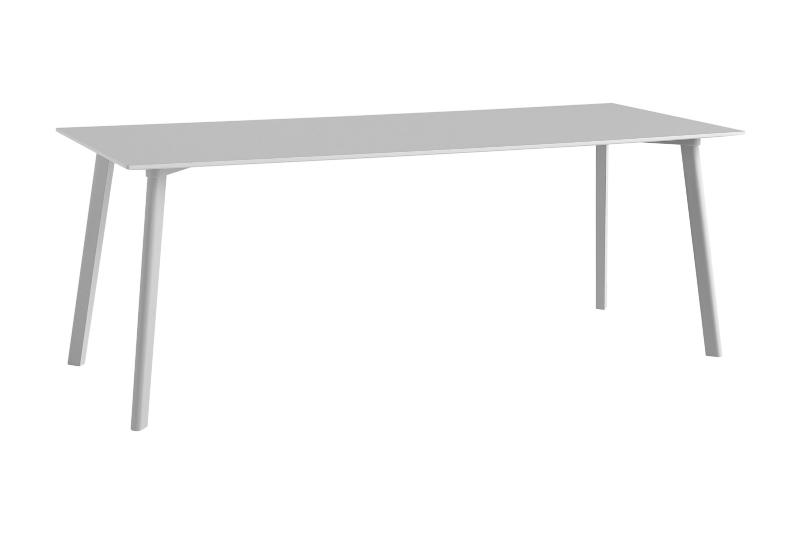 Copenhague Deux (CPH210) Rectangular Dining Table Dusty Grey Laminate Top, Dusty Grey Beech Base, 20