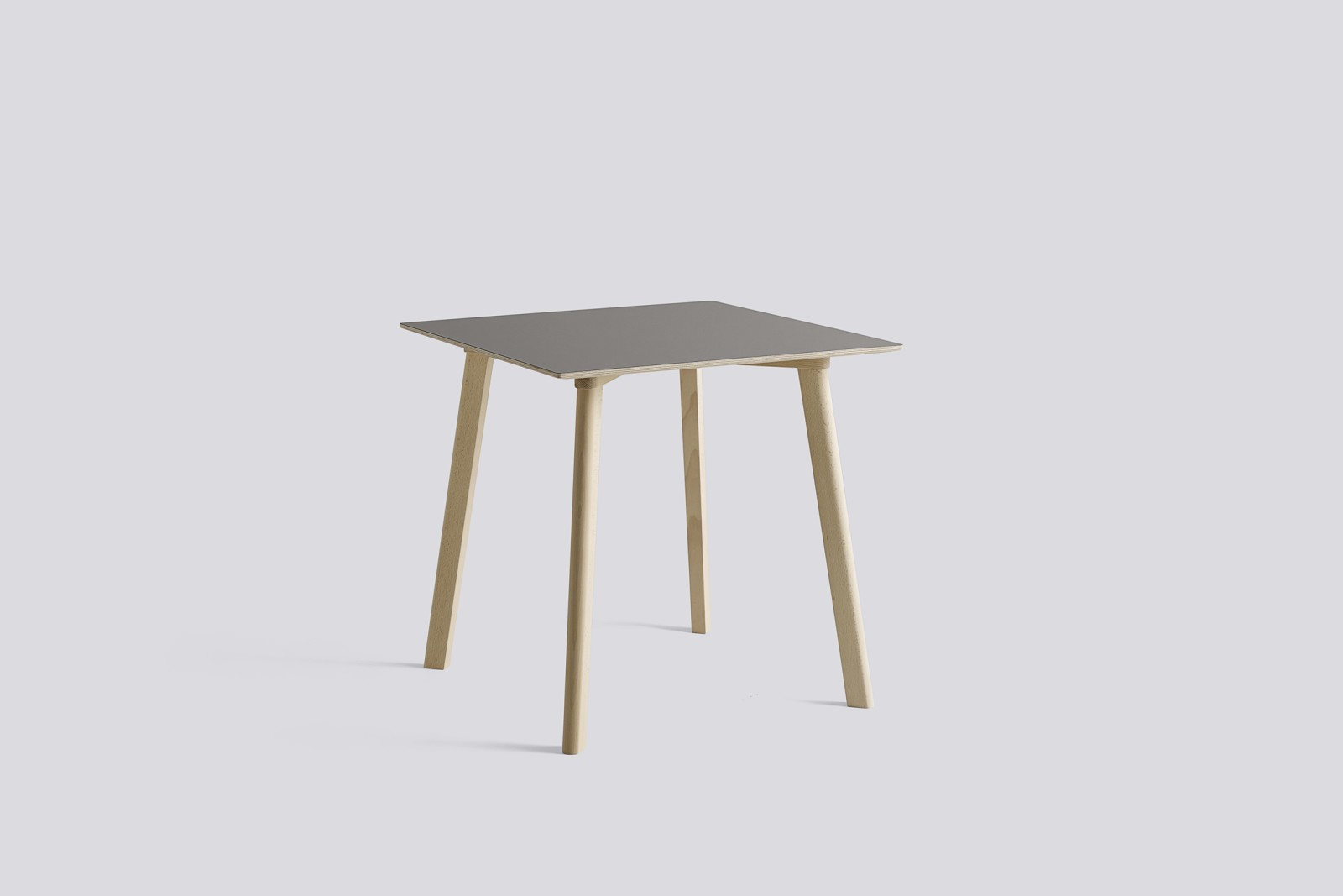 Copenhague Deux (CPH210) Square Dining Table Beige Grey Laminate Top, Untreated Solid Beech Base