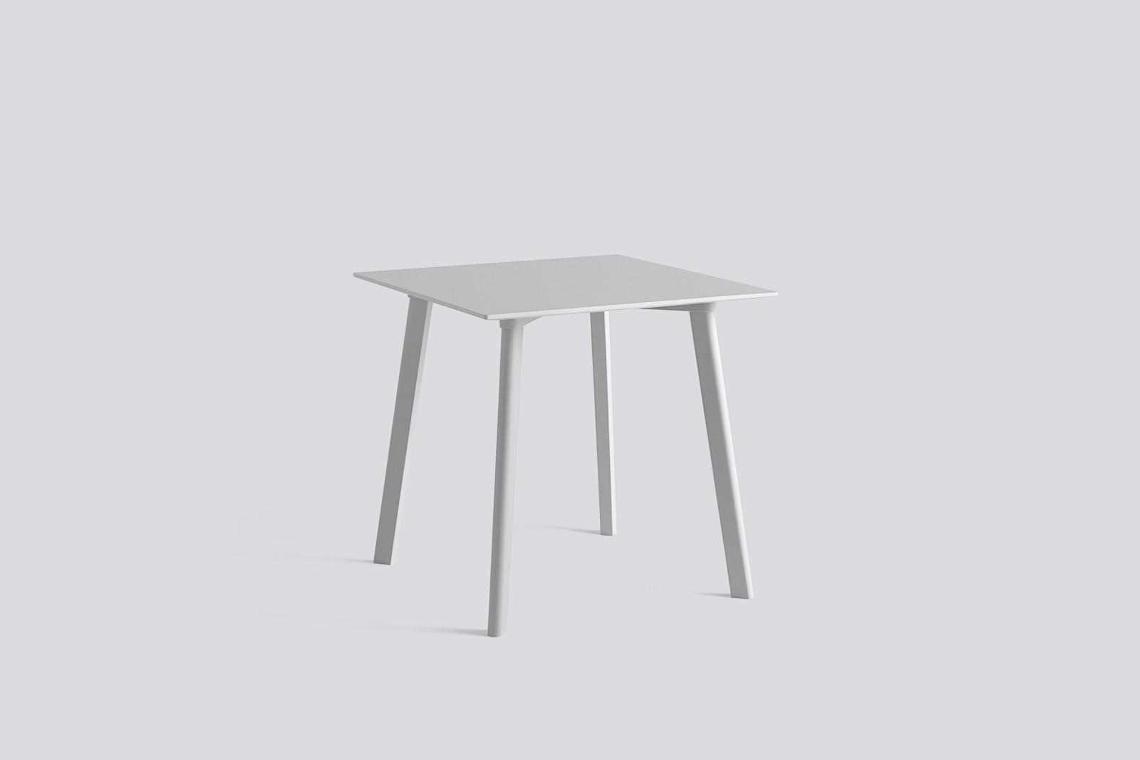 Copenhague Deux (CPH210) Square Dining Table Dusty Grey Laminate Top, Dusty Grey Beech Base