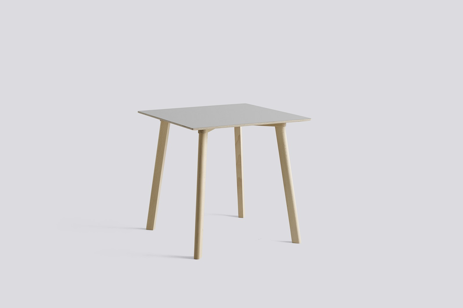 Copenhague Deux (CPH210) Square Dining Table Dusty Grey Laminate Top, Untreated Solid Beech Base