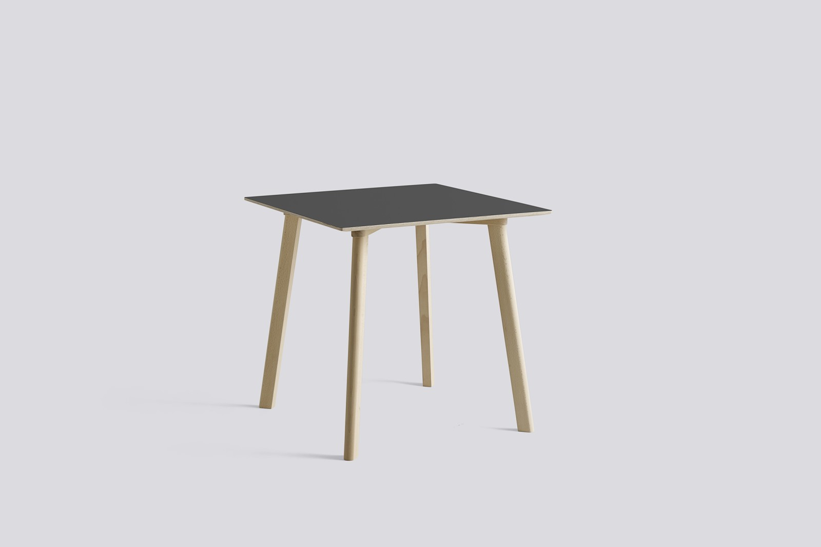 Copenhague Deux (CPH210) Square Dining Table Stone Grey Laminate Top, Untreated Solid Beech Base