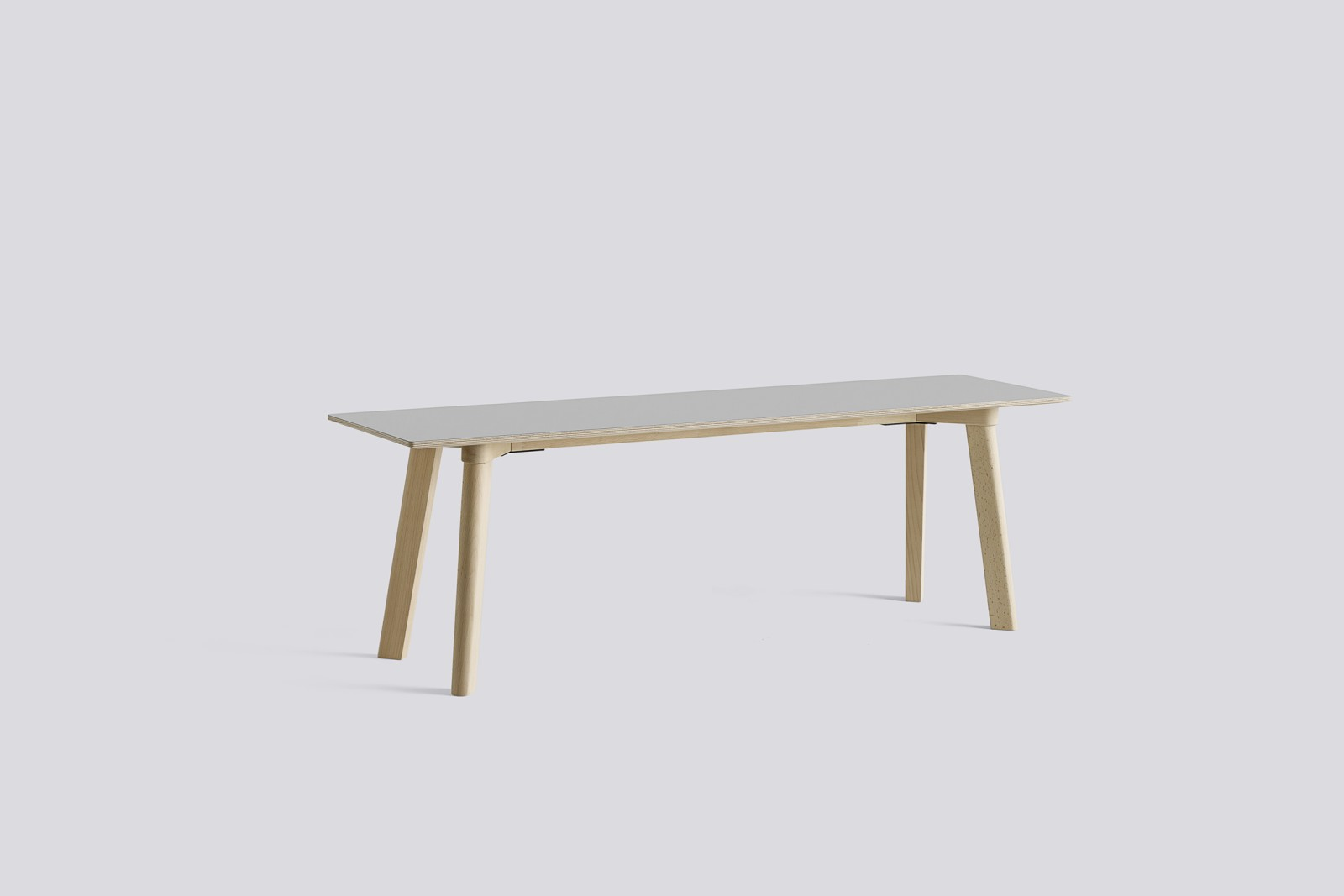 Copenhague Deux (CPH215) Bench Dusty grey laminate, Untreated Beech, 140