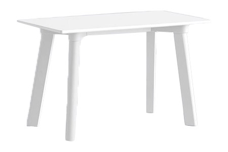 Copenhague Deux (CPH215) Bench Pearl White Laminate, Pearl White Stained Beech, 75