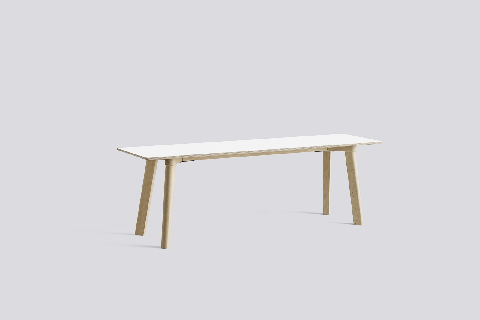 Copenhague Deux (CPH215) Bench Pearl White laminate, Untreated Beech, 140