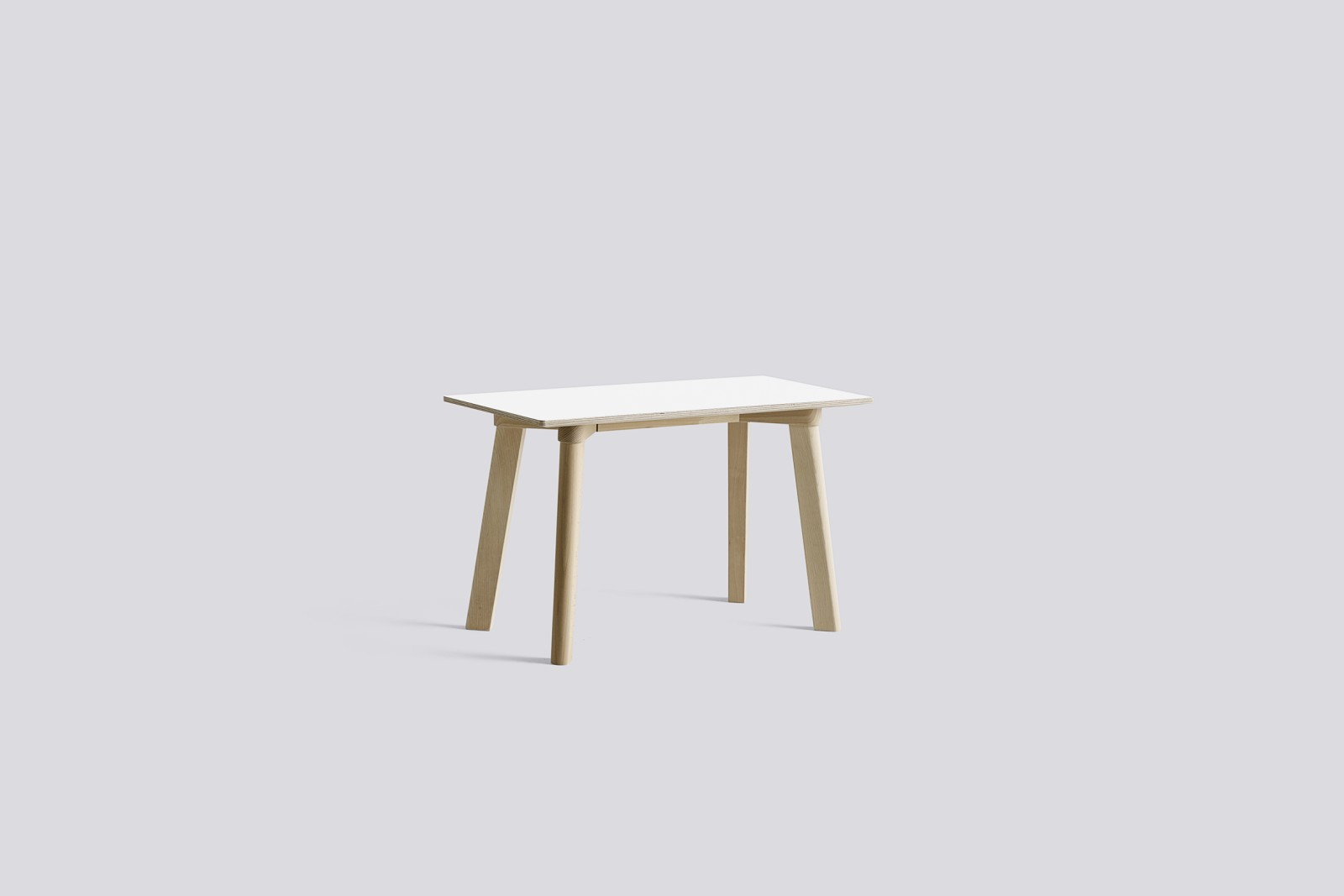 Copenhague Deux (CPH215) Bench Pearl White laminate, Untreated Beech, 75