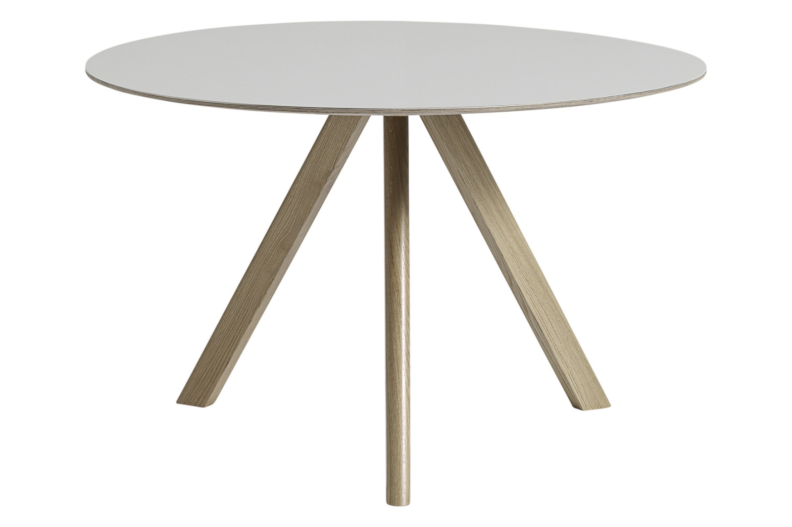 Copenhague Linoleum Top Round Dining Table CPH20 Soap Treated Oak Base, Off White Top, Large