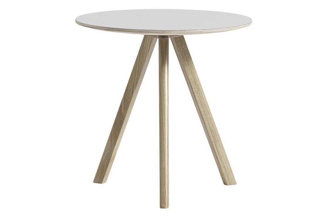 Copenhague Linuleum Top Round Coffee Table CPH20 Soap Treated Oak Base, Off White Top