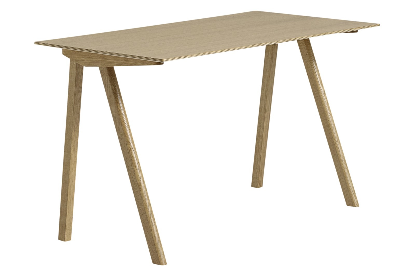 Copenhague Linoleum Top Desk CPH90 Clear Lacquered Solid Oak Base, Clear Lacquered Oak Veneer Top
