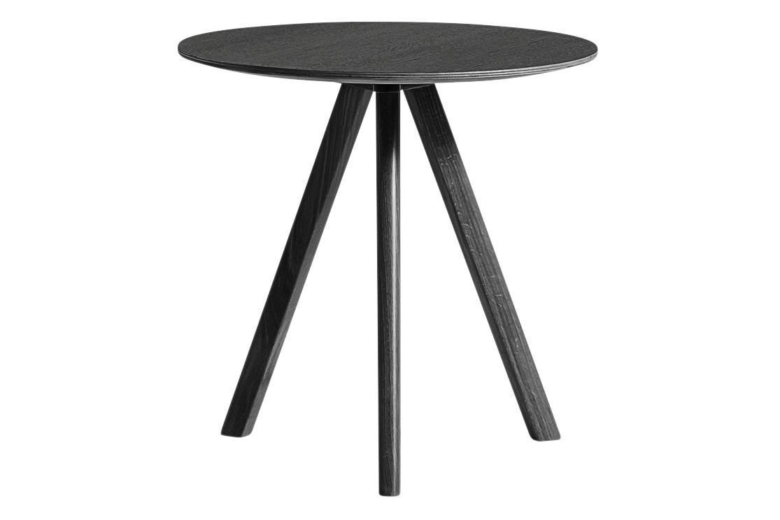 Copenhague Veneer Top Round Coffee Table CPH20 Stained Black Oak