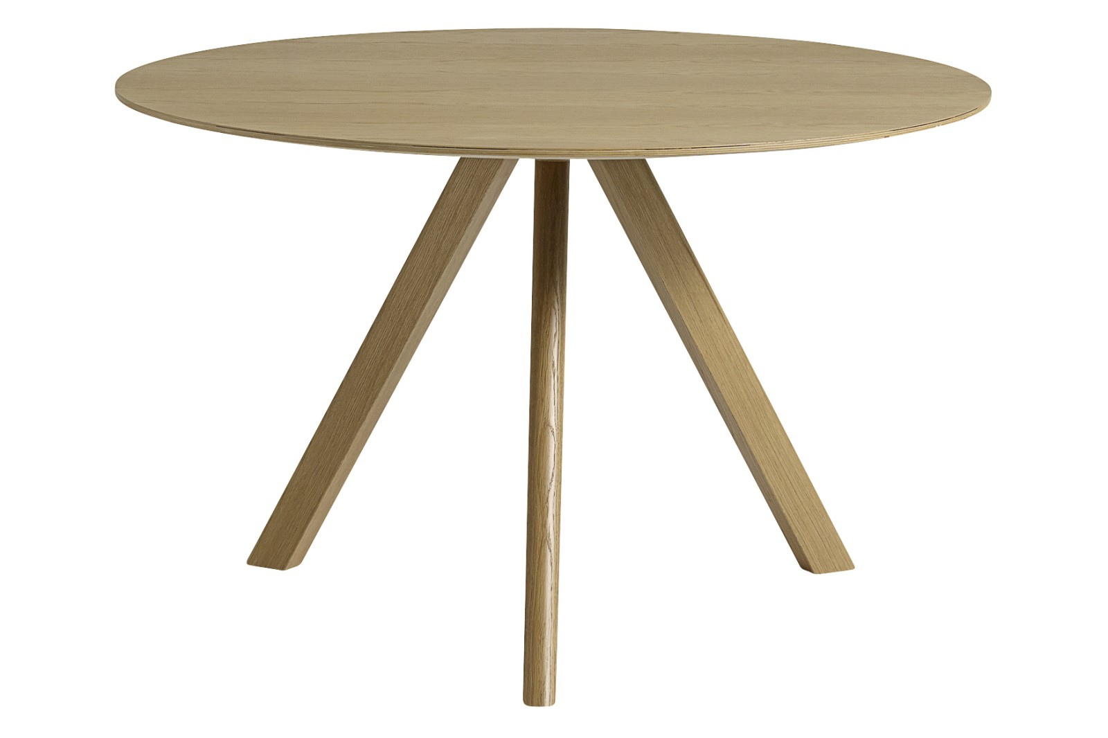 Copenhague Veneer Top Round Dining Table CPH20 Clear Lacquered Oak, Large