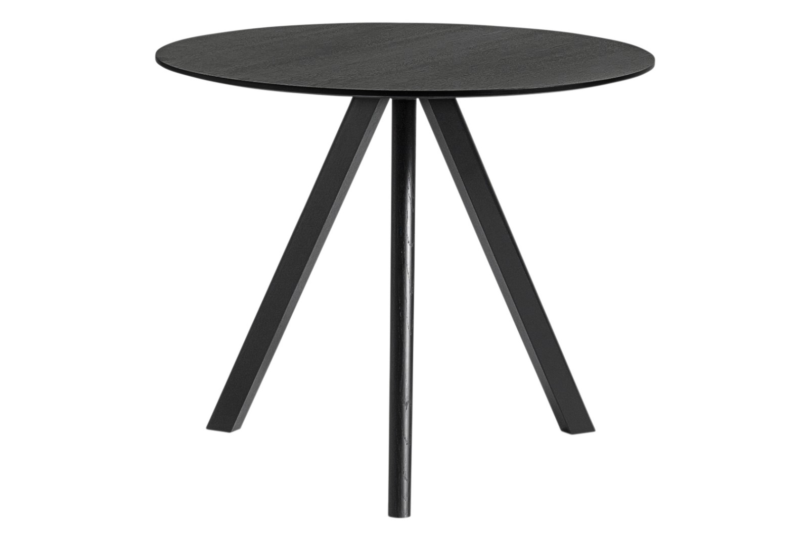 Copenhague Veneer Top Round Dining Table CPH20 Stained Black Oak, Small