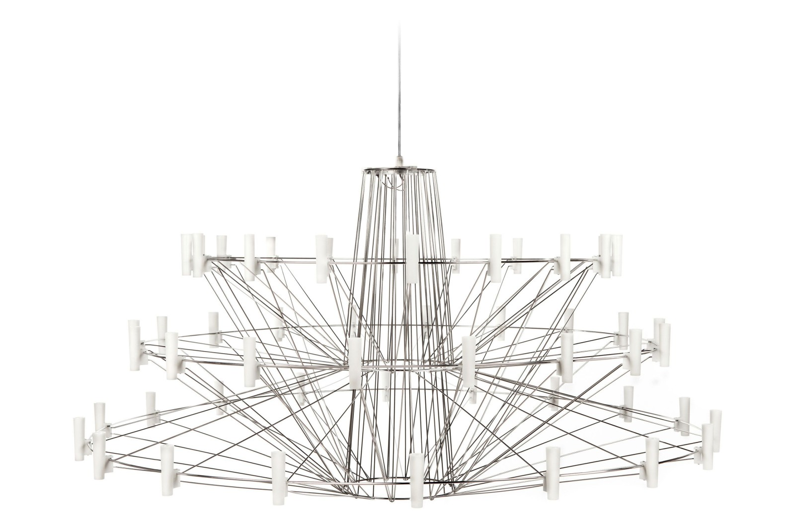 Coppelia Chandelier Large, Chromed, 4 m