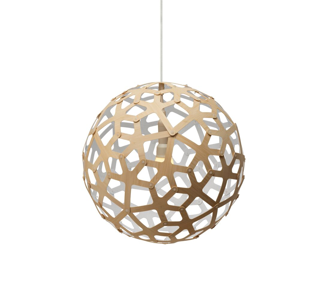 Coral Pendant Light White 1 Side, 40