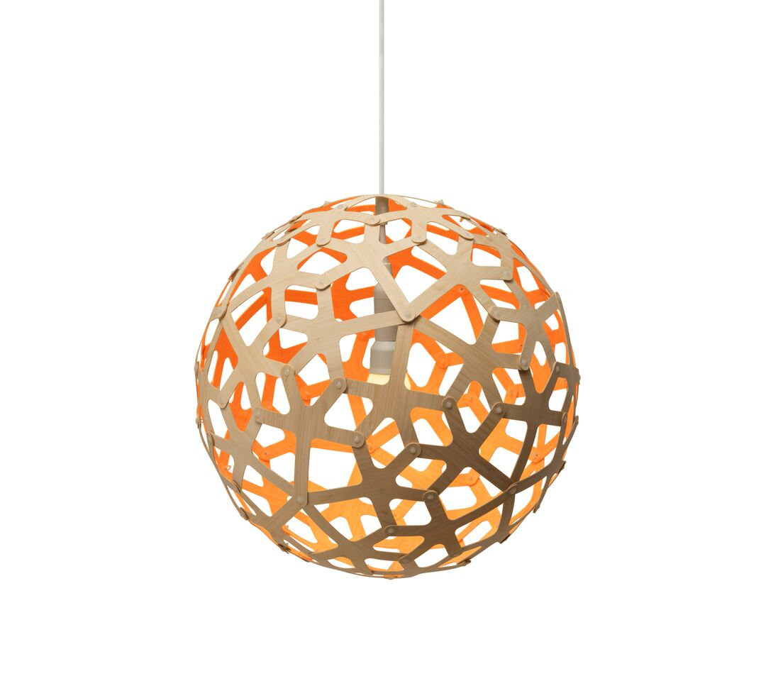 Coral Pendant Light Orange, 40