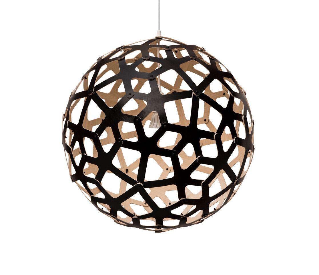 Coral Pendant Light Black 1 Outside, 60
