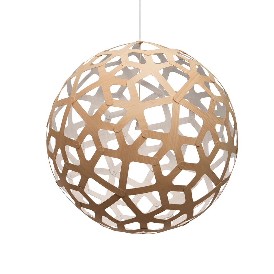 Coral Pendant Light White 1 Side, 80