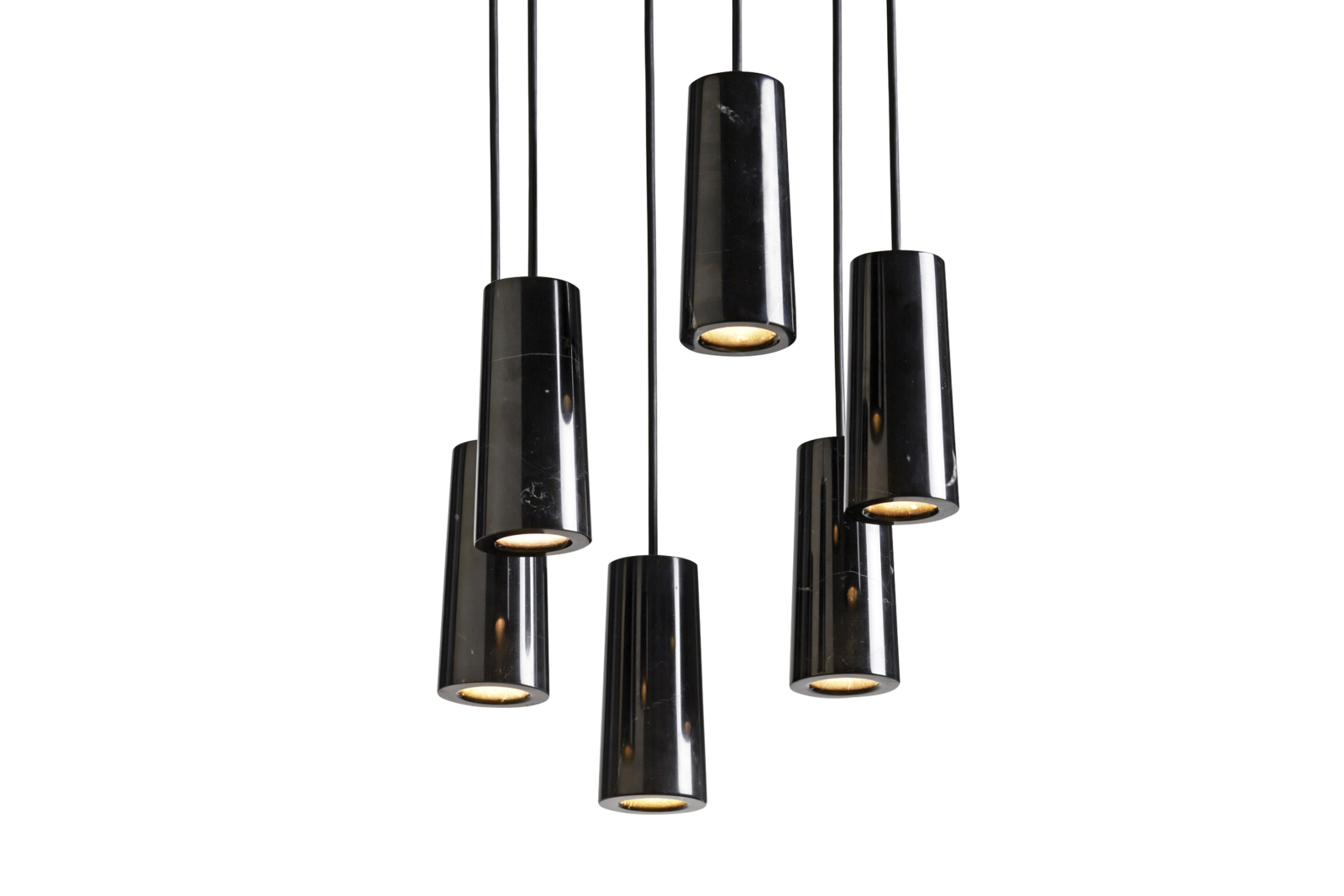 Core Six Pendant Cluster Nero Marquina Marble