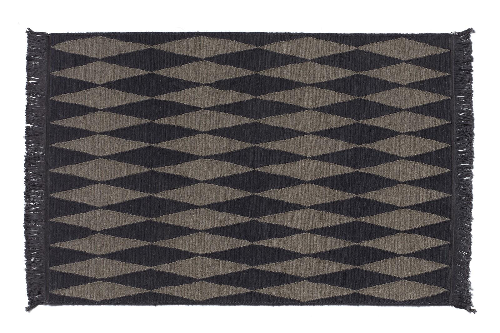 CP02 Neyriz Carpet Black and Quartz Grey, 150x100 cm
