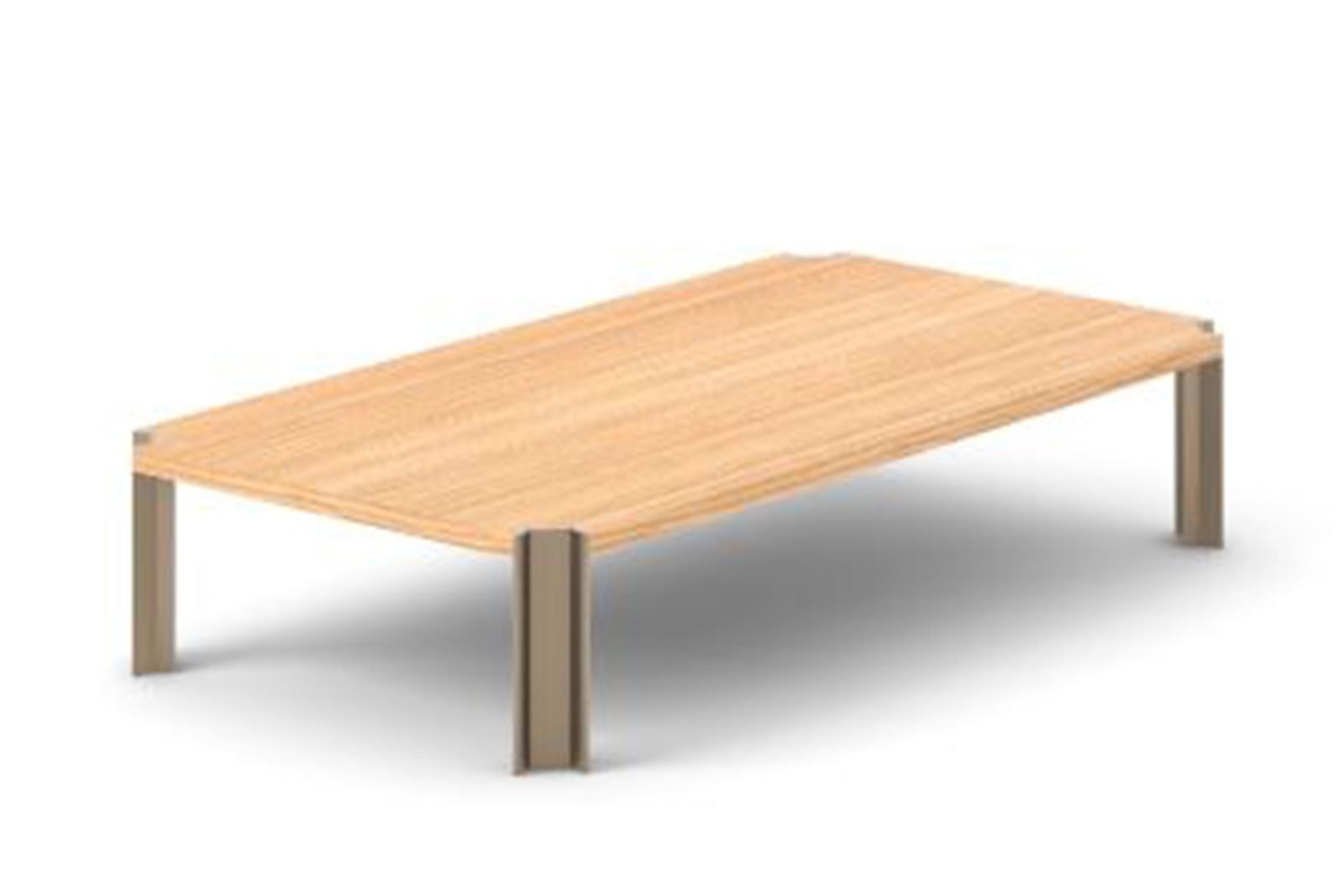 Crossing Coffee Table, Rectangular Super-matt Oak, Bronze Anodised Aluminium, 150cm