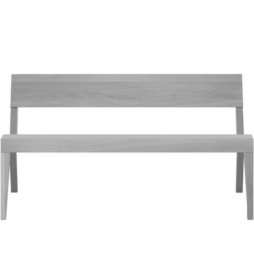 Cubo Bench With Upholstered Seat Light Grey, Light Grey