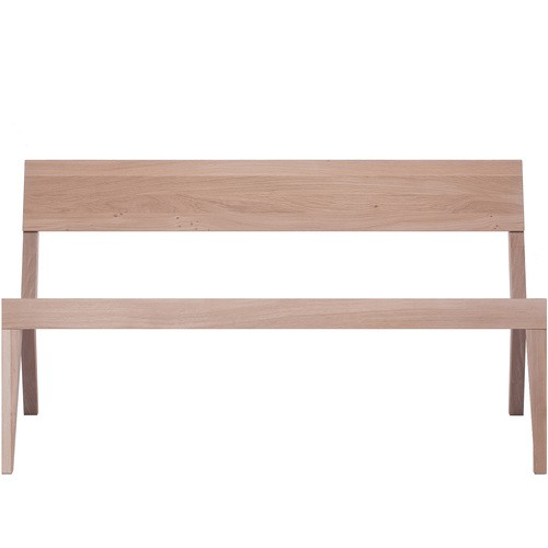 Cubo Bench With Wood Seat Oak, Oak