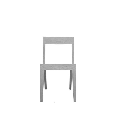Cubo Chair With Wood Seat Oak, Light Grey