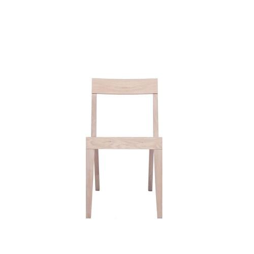 Cubo Chair With Wood Seat Oak, Oak