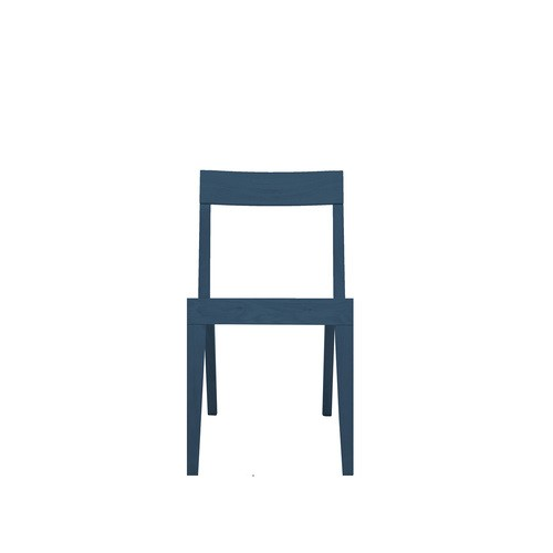 Cubo Chair With Wood Seat Petrol Blue, Oak