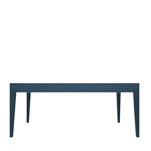 Cubo Rectangular Table Without Drawer Oak, Petrol Blue