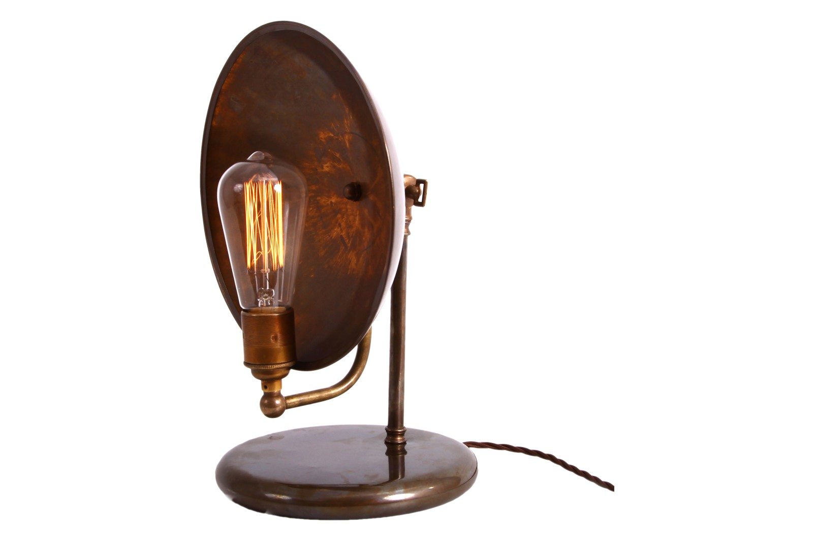 Cullen Table Lamp Antique Brass, UK Plug