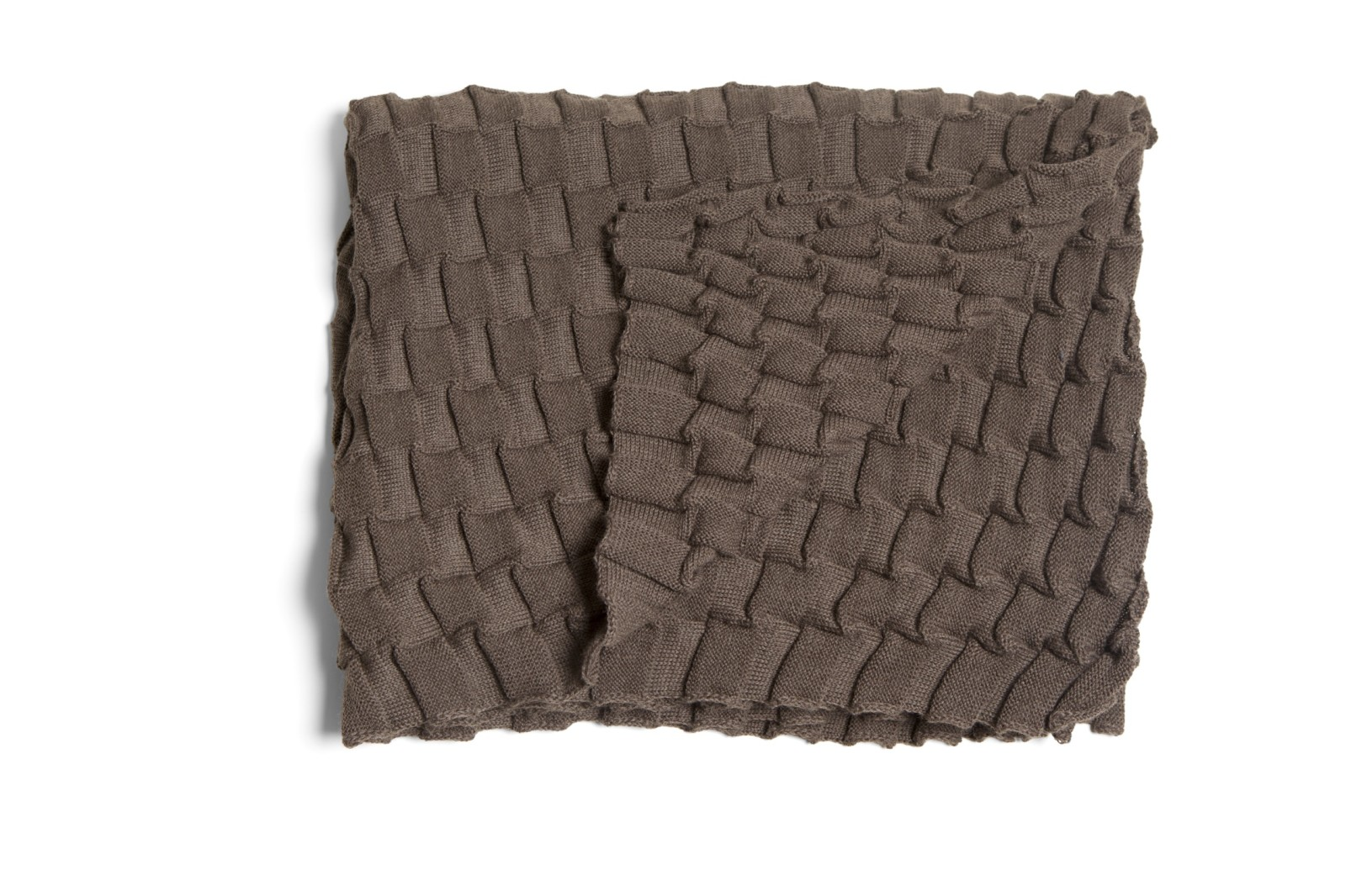 Curly Throw - set of 2 Brown