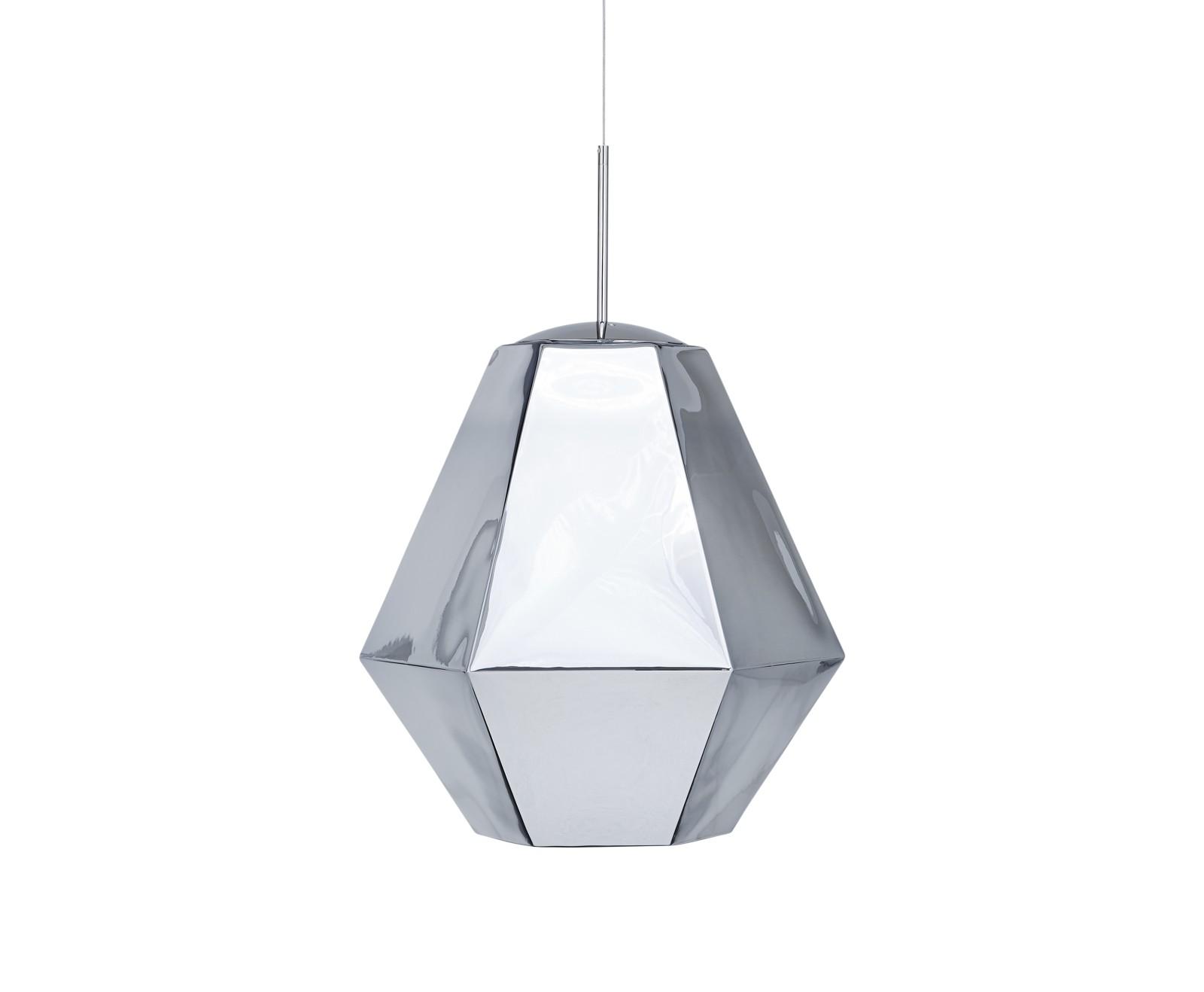 Cut Tall Pendant Lamp Chrome
